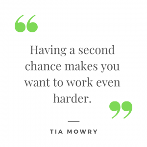 Quote by Tia Mowry about having a second chance.